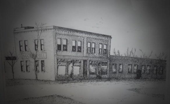 Original Location on Main Street, Magrath, Alberta: Artist's Rendition