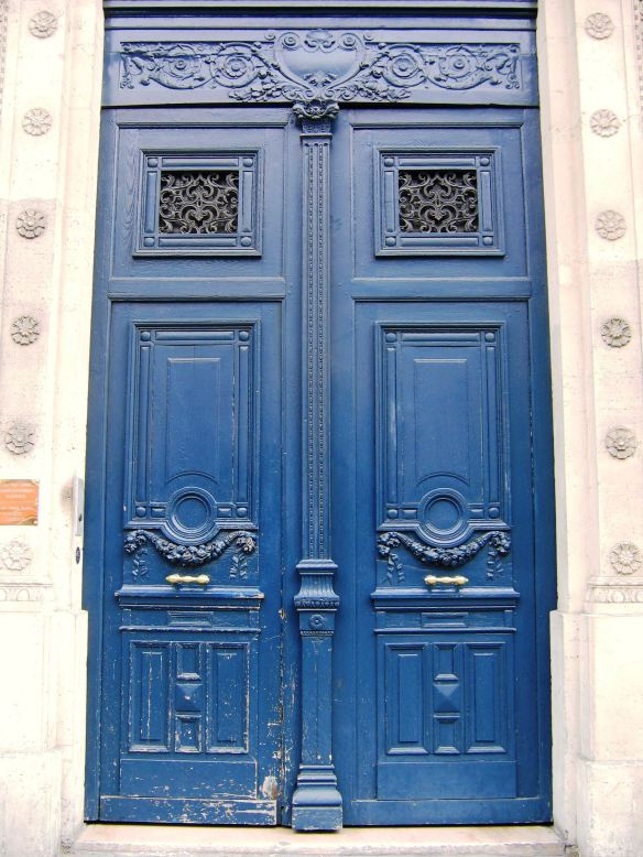 Paris: Blue Door Photo Credit: Kathleen Moors
