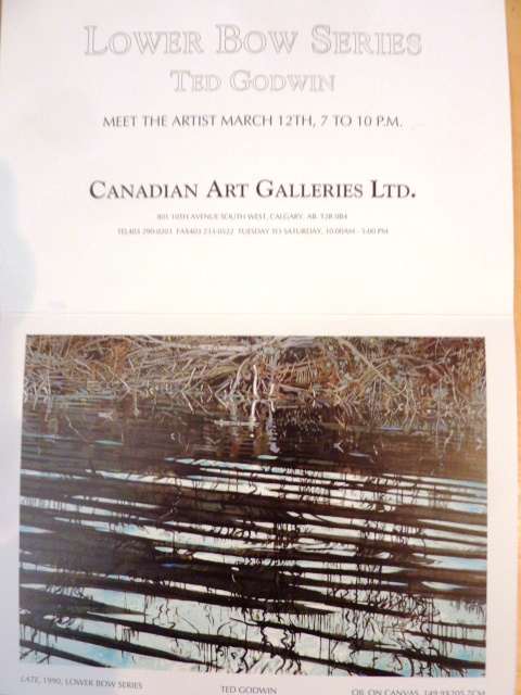 My Invitation to Ted's Lower Bow exhibit at CAG