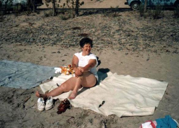Mom at the Beach Kay Moors