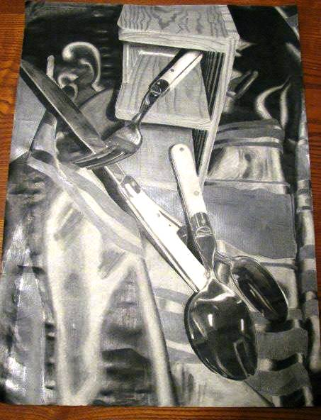 Graphite Still Life created by Austin.