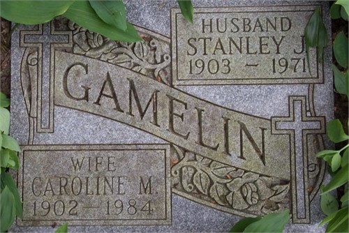 Great Auntie Caroline May Elliott resting along side her husband, Stanley Gamelin