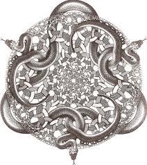 Snakes by Escher