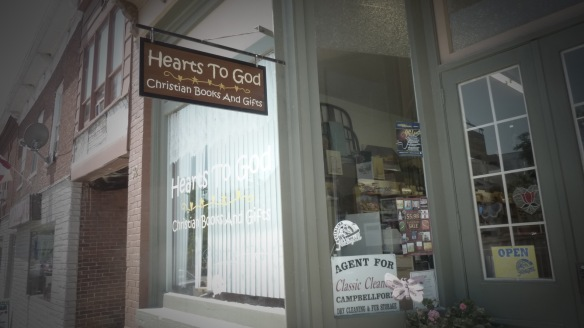 Mom used to buy little gifts and spiritual books in this neighbouring shop, Hearts To God