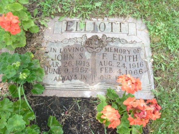 John Stanton Elliott resting alongside Francis Edith Ward