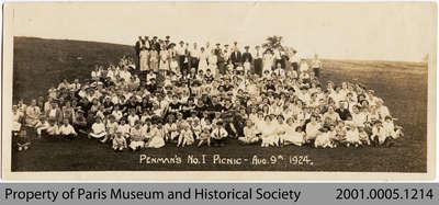 Penman's employee picnic 1924