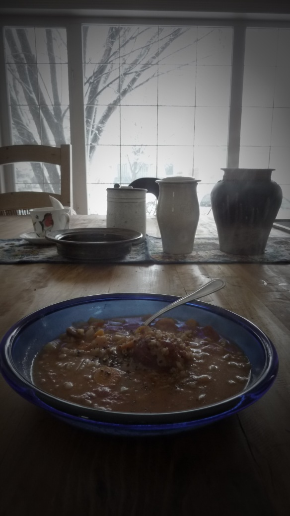 Beef Barley Soup...Always good for a wintry day.