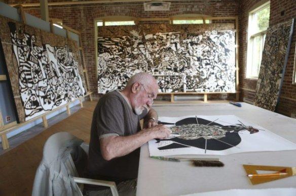 750039-sculpteur-peintre-rene-derouin-atelier