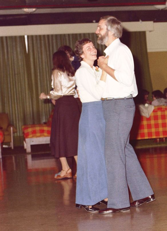 Larry and Nina dancing at my wedding dance: 1978