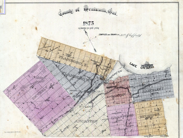 Wentworth County 1875 Map