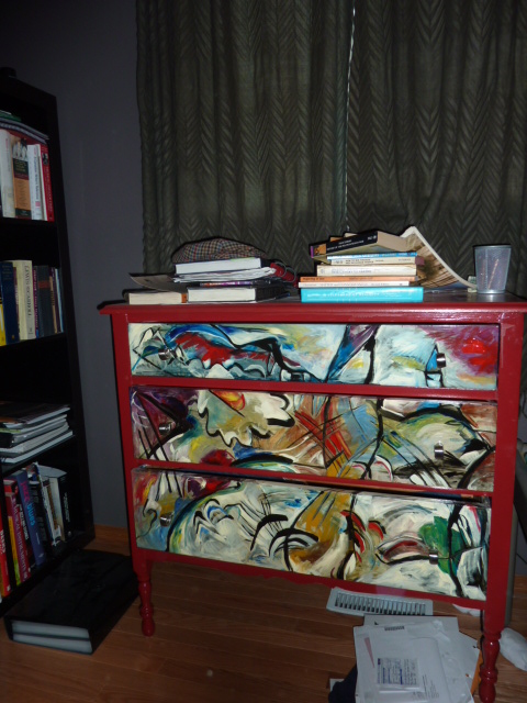 W. Kandinsky dresser for my percussionist-son.