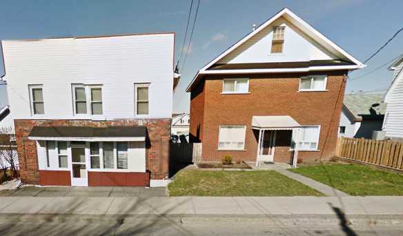 387 is the house on the left and 385, the one on the right.