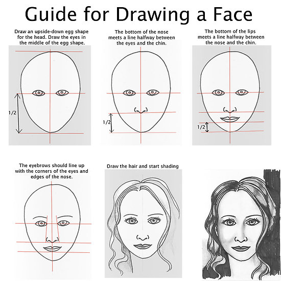 Guide For Drawing a Face
