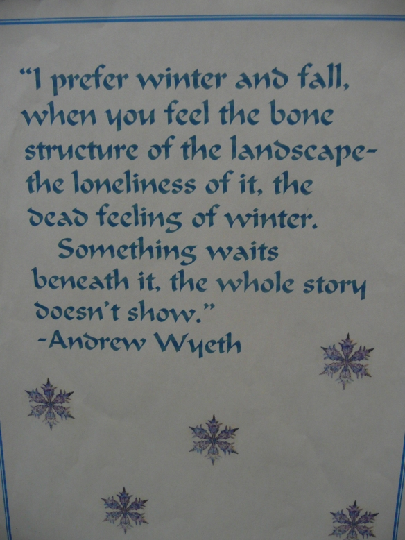 January 24 Pot Luck and Winter Words to Live By 021