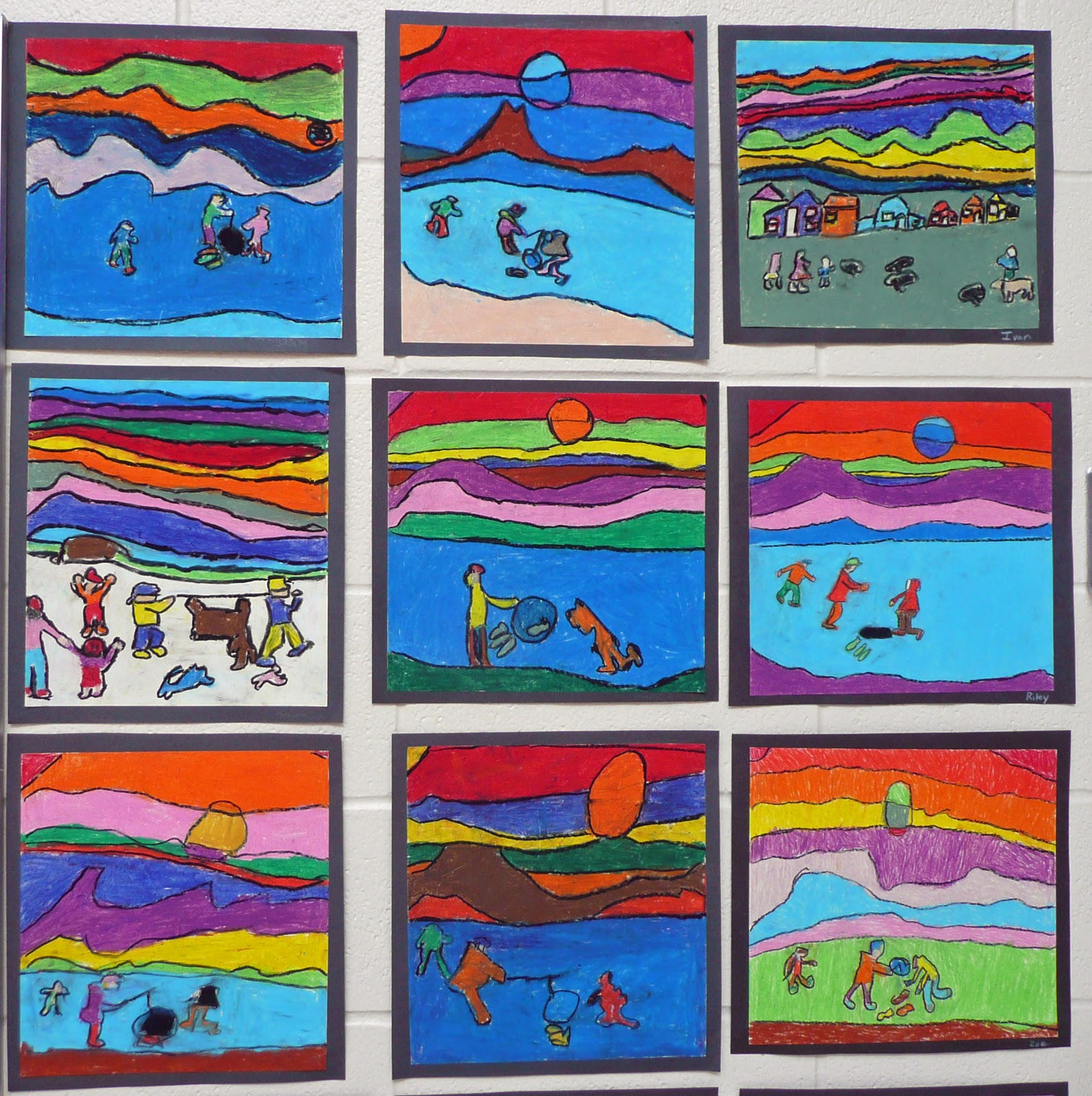 Grade four s homage to ted harrison the chapel for Painting projects
