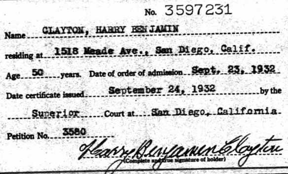 Harry Clayton married to Rose Margaret Moors