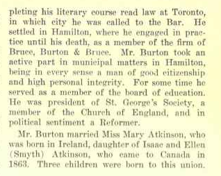 Warren Burton 61 Robinson Street Hamilton Page 2 Biography