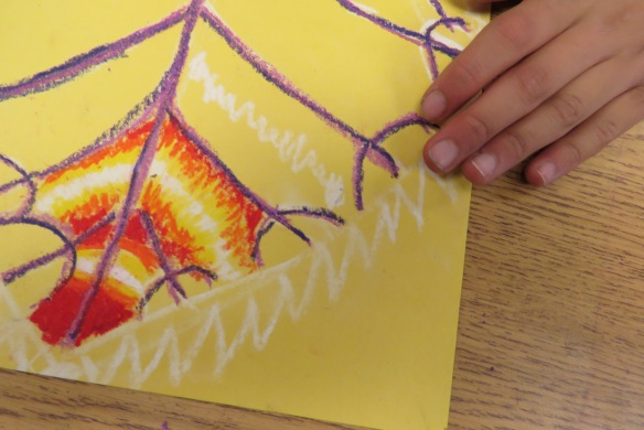 Kath's Canon October 9, 2015 Contoured Leaves Elementary Art 003