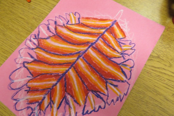 Kath's Canon October 9, 2015 Contoured Leaves Elementary Art 006