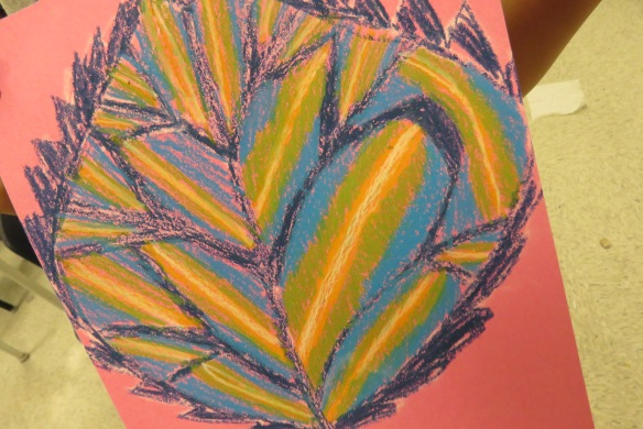 Kath's Canon October 9, 2015 Contoured Leaves Elementary Art 007