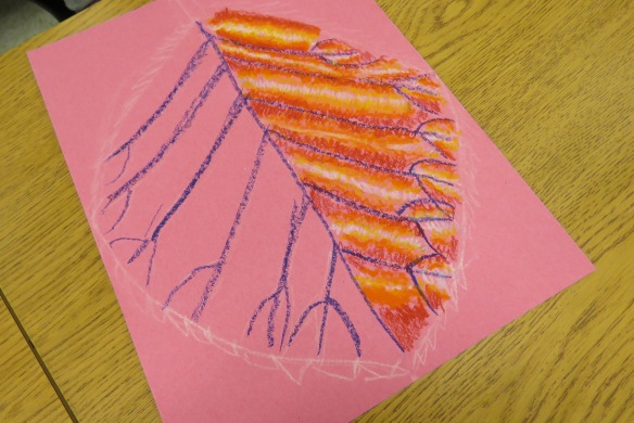 Kath's Canon October 9, 2015 Contoured Leaves Elementary Art 011