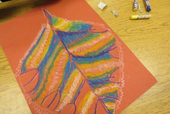 Kath's Canon October 9, 2015 Contoured Leaves Elementary Art 012