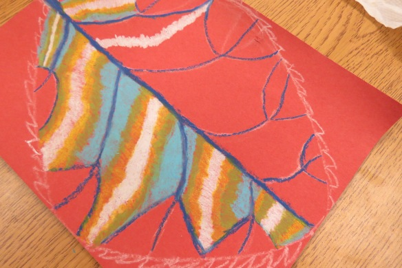 Kath's Canon October 9, 2015 Contoured Leaves Elementary Art 014