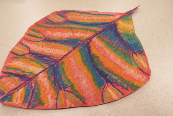 Kath's Canon October 9, 2015 Contoured Leaves Elementary Art 027