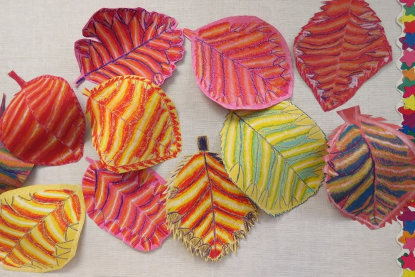 Kath's Canon October 9, 2015 Contoured Leaves Elementary Art 028