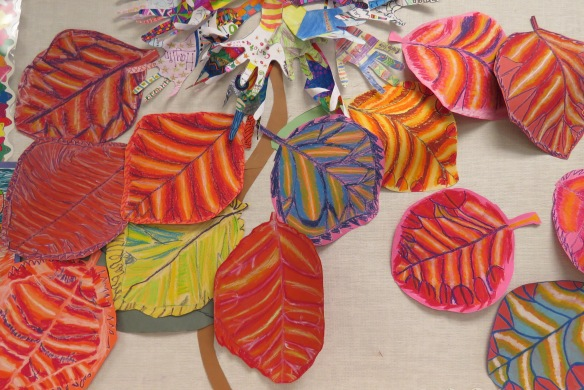Kath's Canon October 9, 2015 Contoured Leaves Elementary Art 031