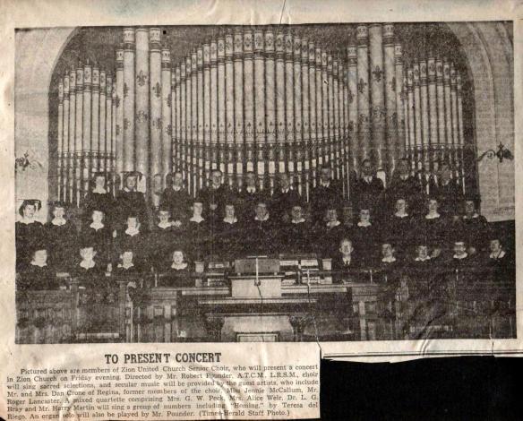 Zion United Church Senior Choir