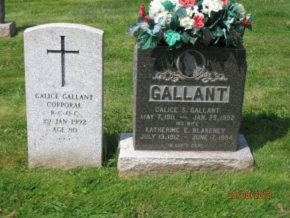 Calice Gallant and Katherine Blakeney resting place