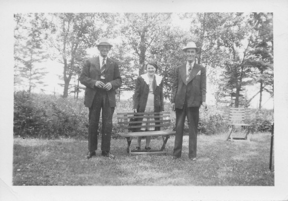 Papie, Auntie Adeline and unknown male