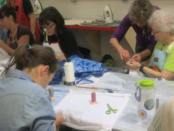 Kath Stitching Esker shibori