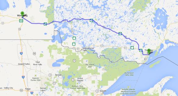 Winnipeg to Thunder Bay