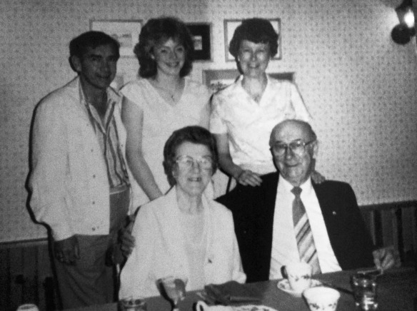 Great Uncle Calice, Great Aunt Kay, daughter Betty, her daughter Kelley and late Uncle Justin McNeil