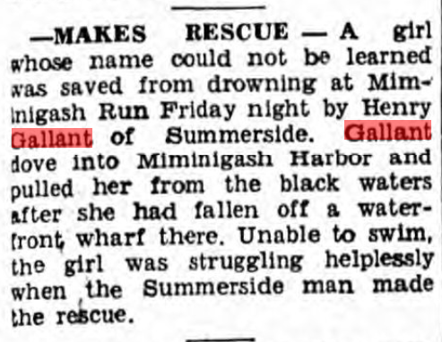 Henry Gallant Rescue Summerside Guardian