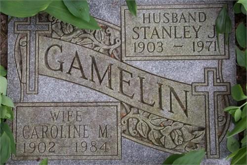 Caroline M. Elliott married to Stanley Gamelin
