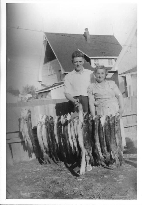 Gramma and Grampa Moors and Fish